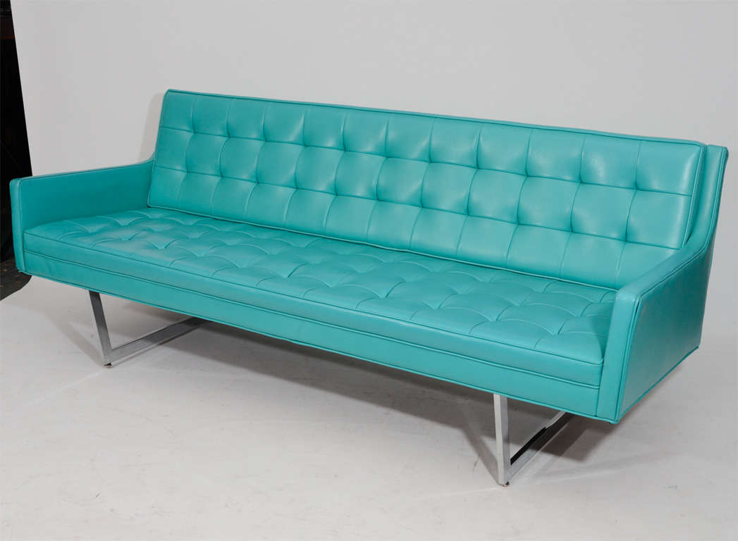 Sleek Tufted Modern Sofa 2