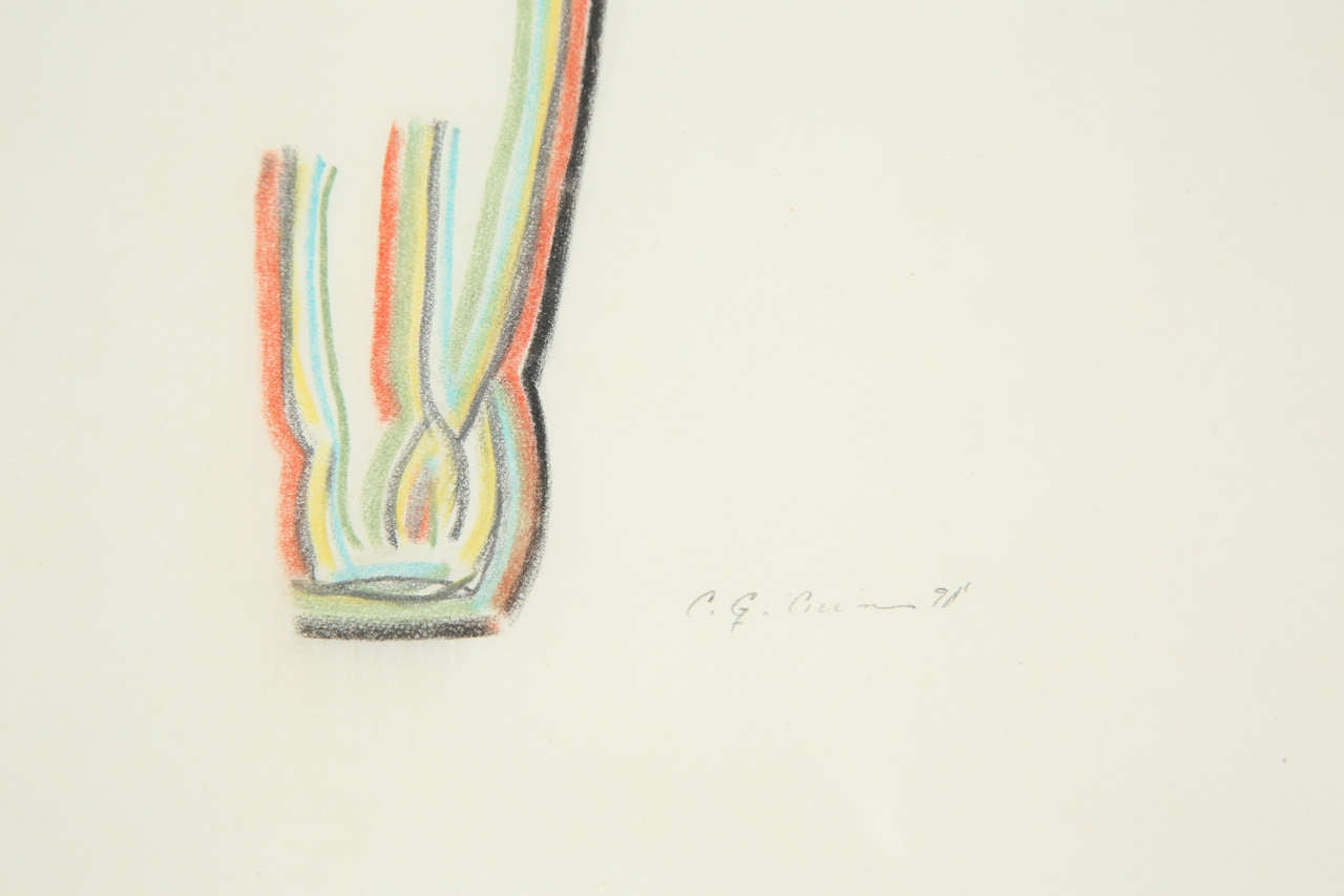 Wood A Set of 3 Colored Pencil Drawings For Sale