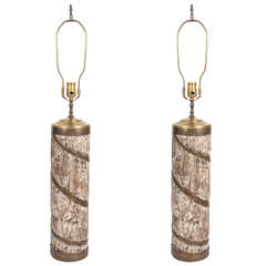 Italian Art Pottery Lamps