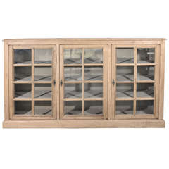 Antique French Bookcase with Stone Inset Top