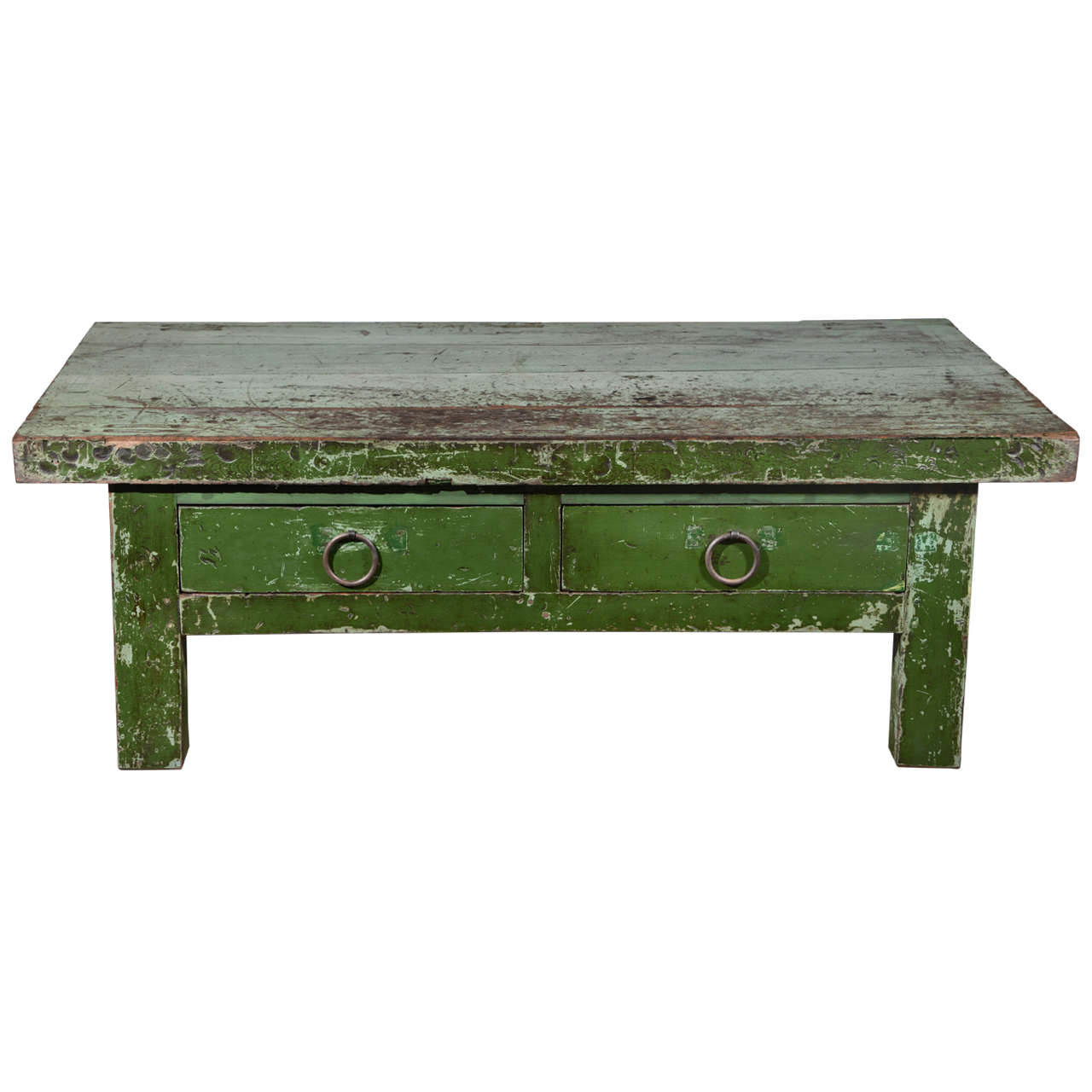 wabi sabi green coffee table at stdibs - wabi sabi green coffee table