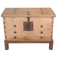 Antique Storage Trunk on Stand