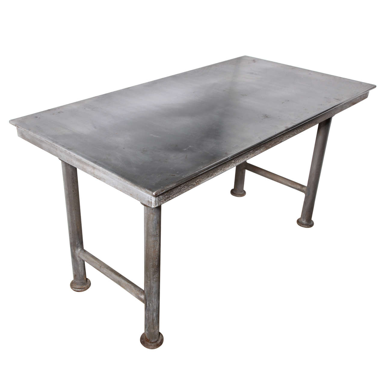 Quot Reading Quot Industrial Work Table At 1stdibs