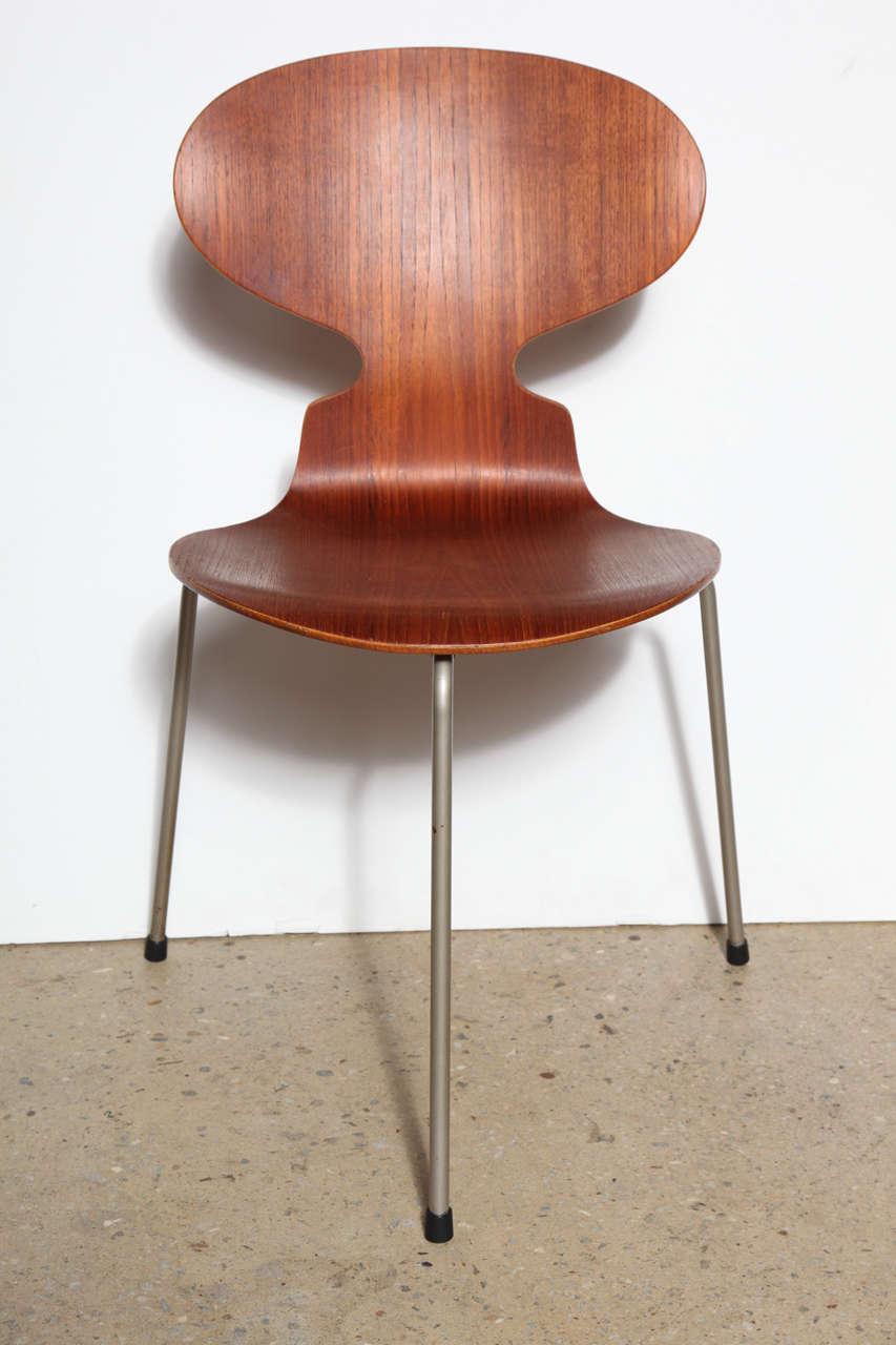 set of 4 arne jacobsen ant chairs at 1stdibs. Black Bedroom Furniture Sets. Home Design Ideas