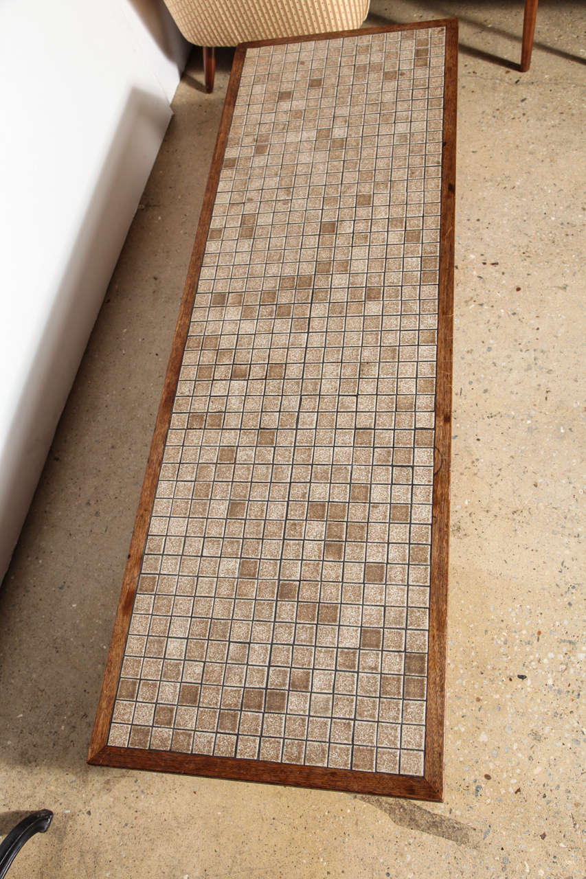 Jane And Gordon Martz Walnut And Neutral Ceramic Tile Top