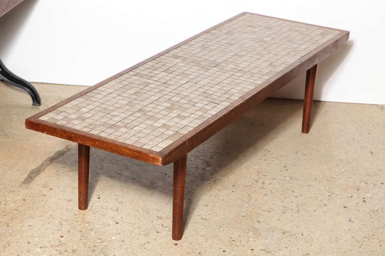 Jane And Gordon Martz Walnut And Neutral Ceramic Tile Top