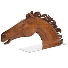 Monumental  Art Deco Hagenauer  Horse Head