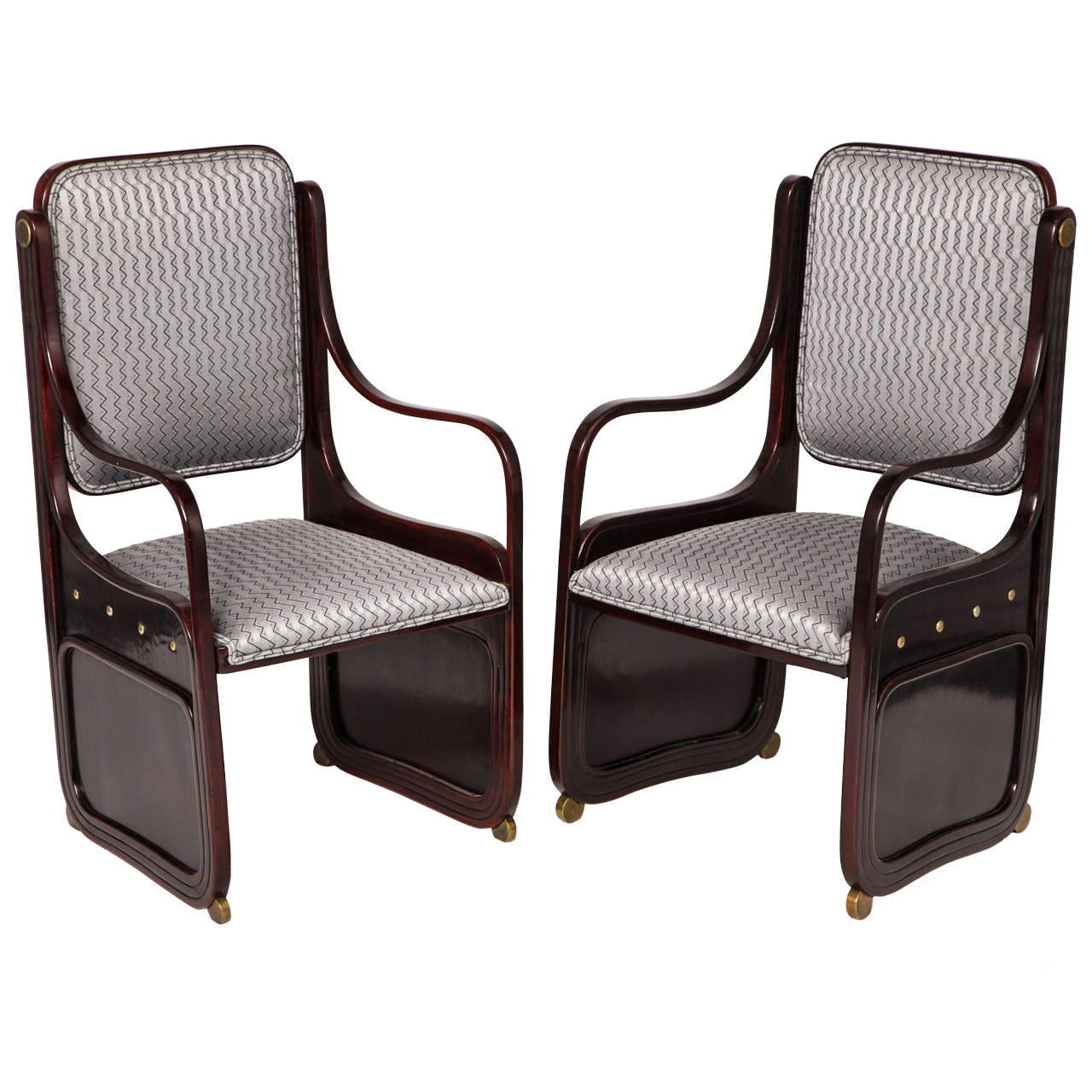 Koloman Moser Pair Of Armchairs Jacob And Josef Kohn 1901 For Sale At 1stdibs