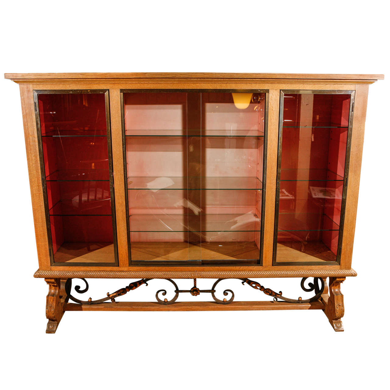French Modern Display Cabinet For Sale at 15stdibs