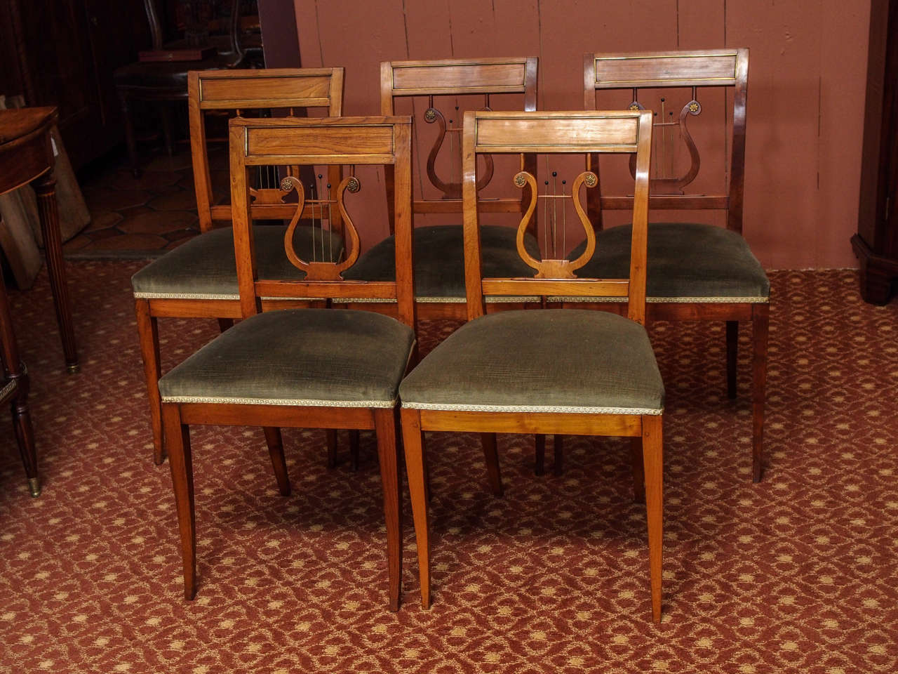 Ten French Directoire Style Dining Chairs For Sale At 1stdibs