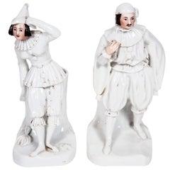 1880s Pair of Staffordshire Figure Vases