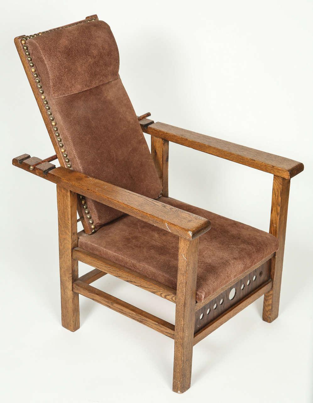 Antique morris chair - Antique Oak Child S Morris Chair 3