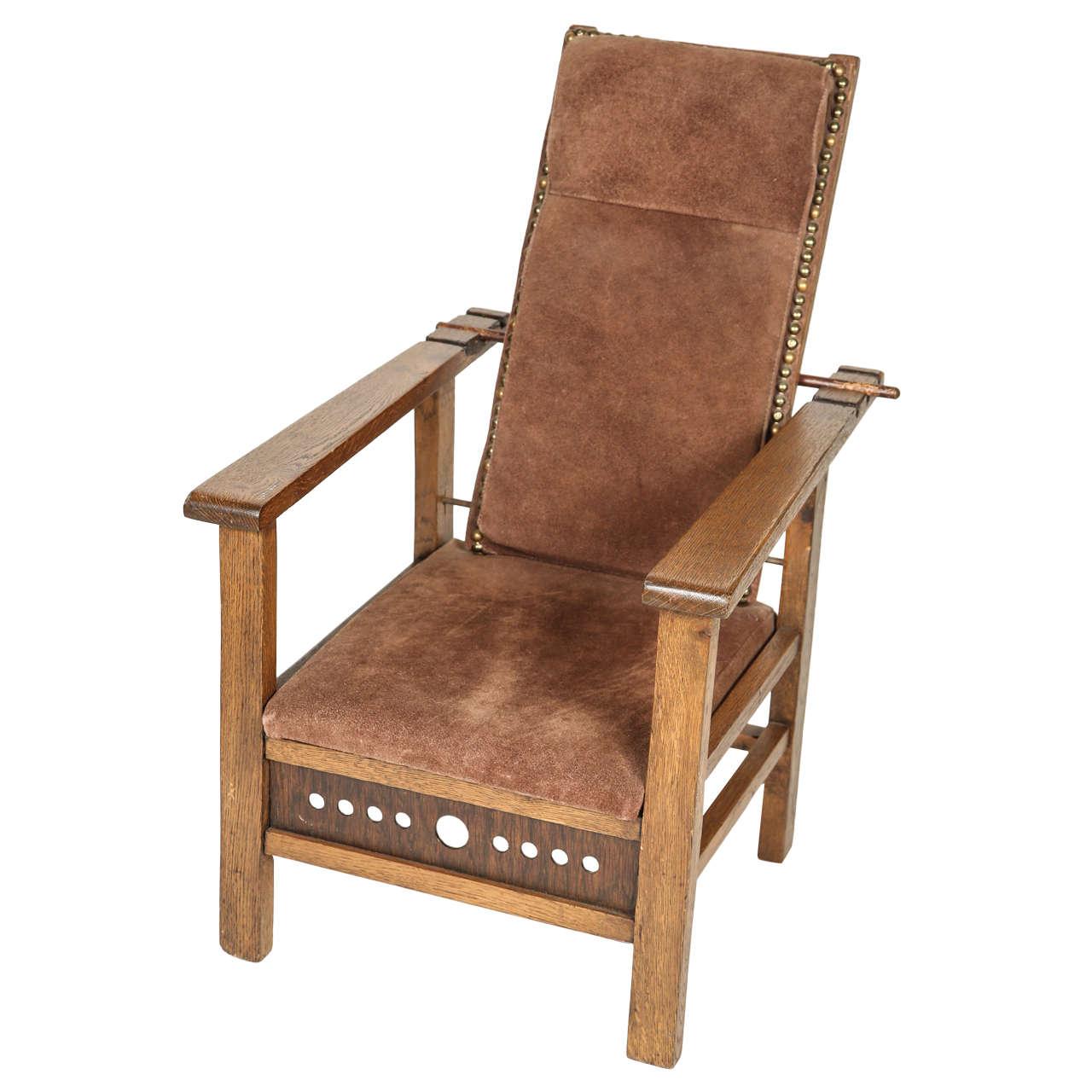 Antique Oak Child S Morris Chair For