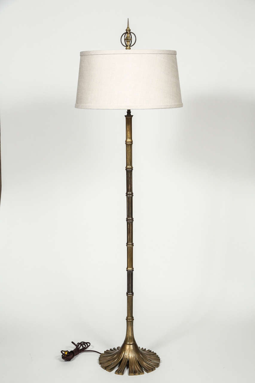 Brass Bamboo Floor Lamp At 1stdibs