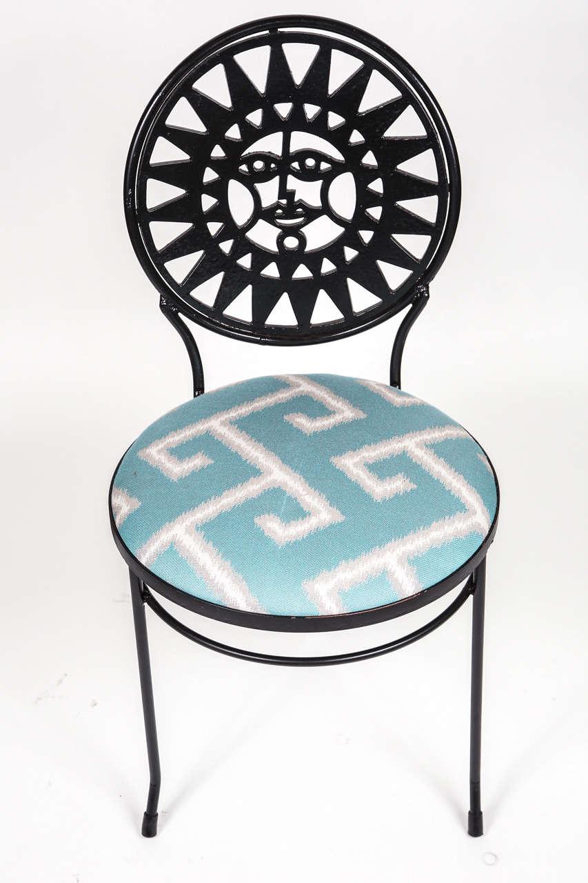 Mid Century Iron Patio Chairs: Mid Century Iron Bistro Set At 1stdibs