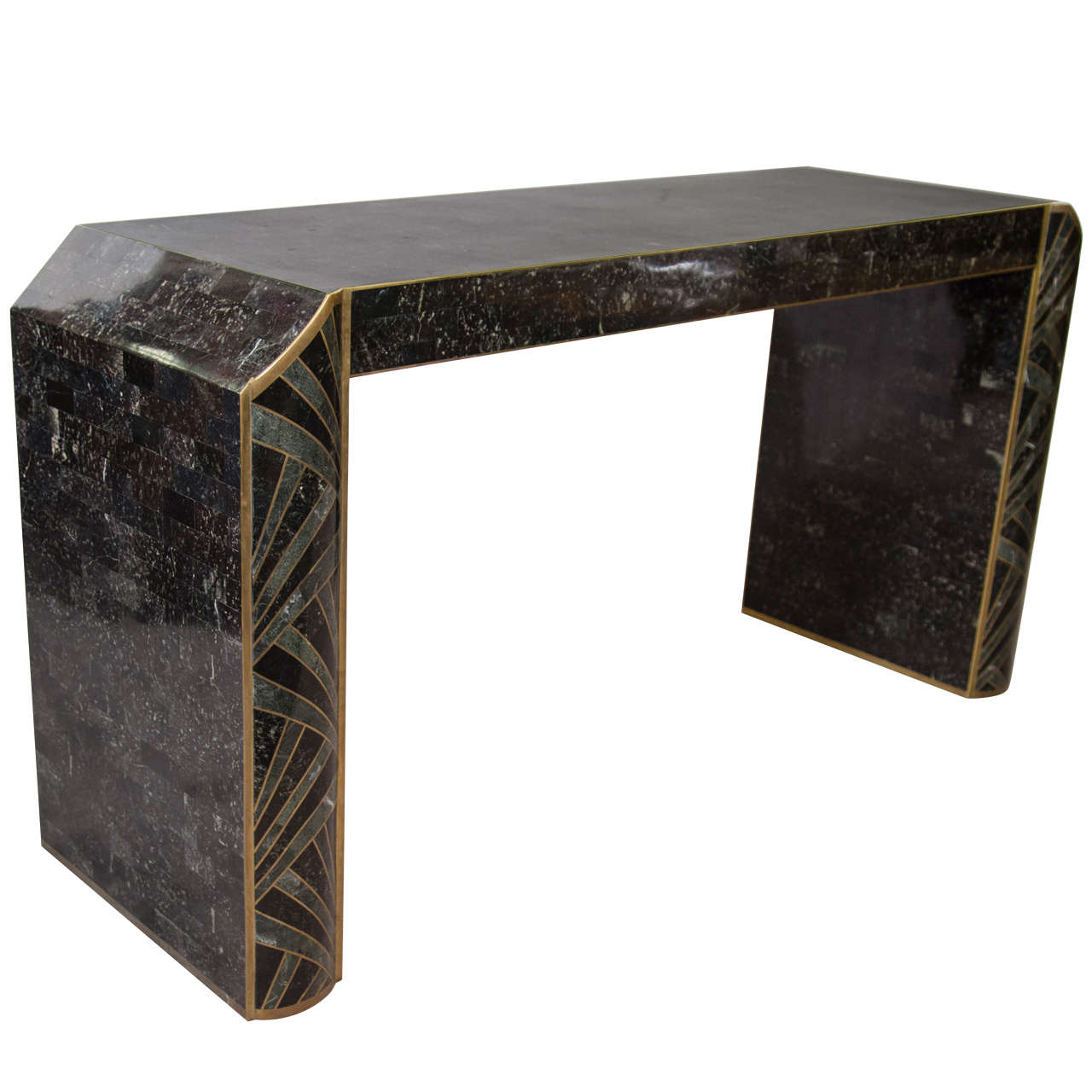 Midcentury Tessellated Console Table By Maitland Smith At