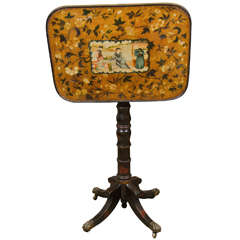 Rare Regency Chinoiserie Tilt-Top Table