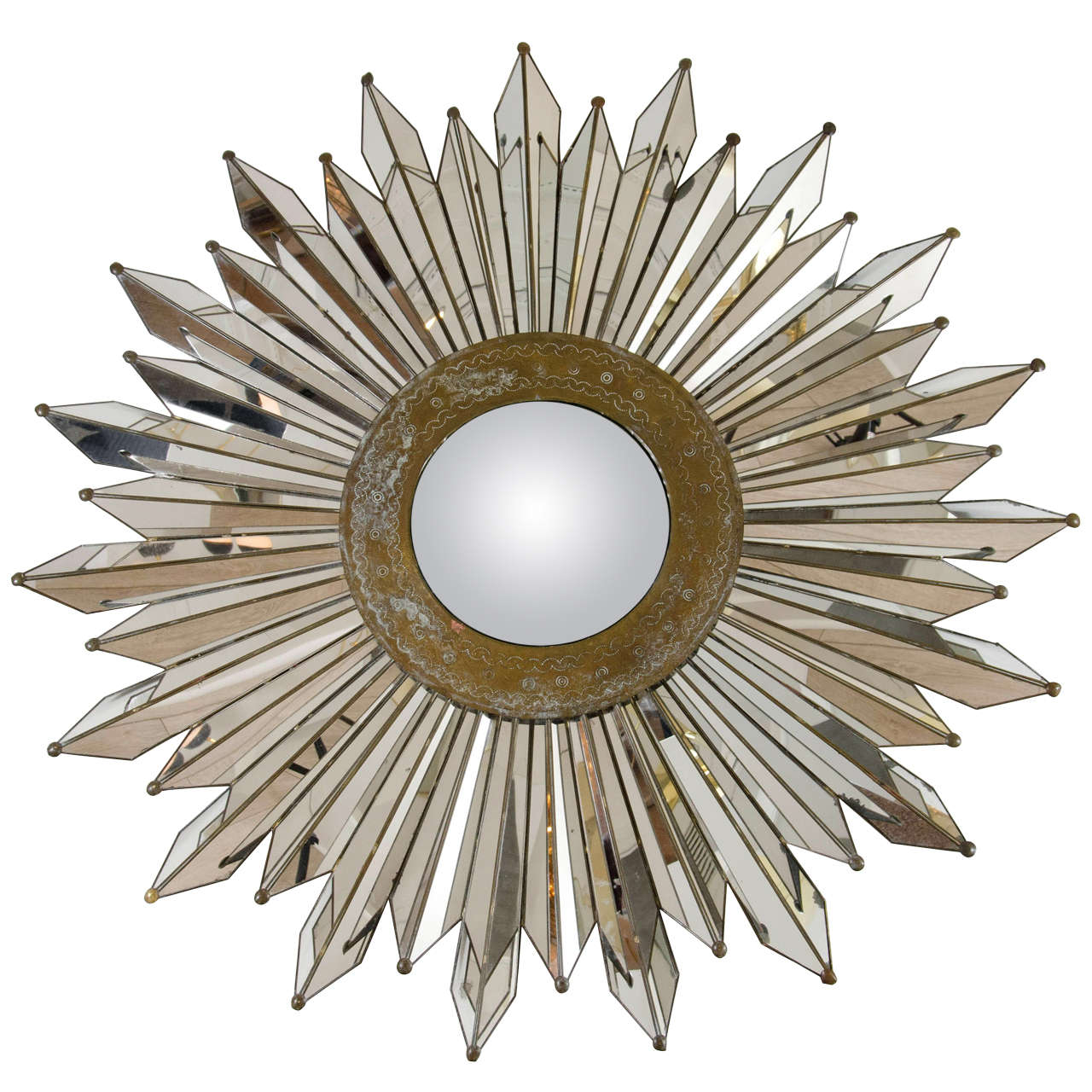 Convex Sunburst Mirror At 1stdibs