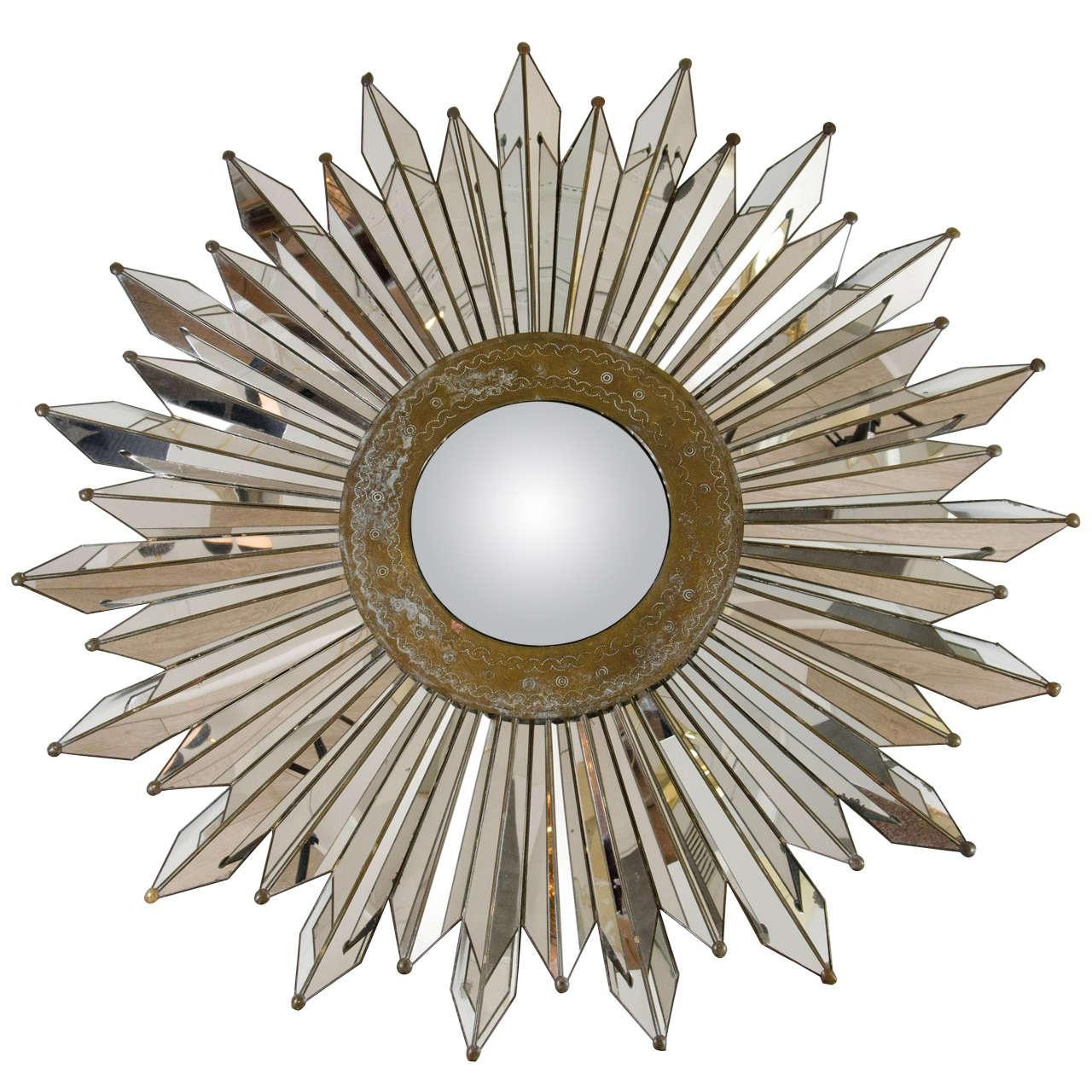 Convex Sunburst Mirror For