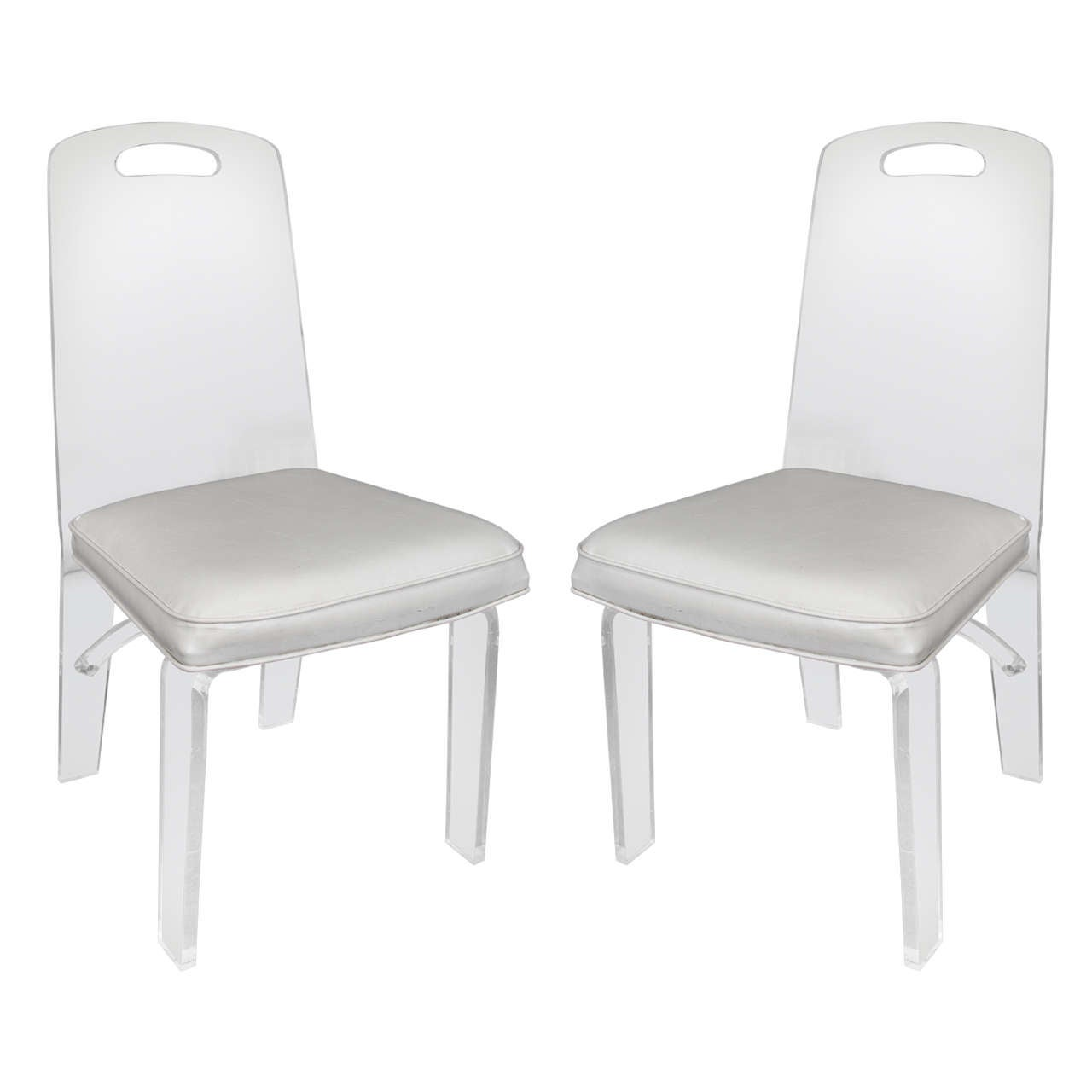 Pair Of 1970s Lucite Chairs At 1stdibs