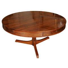 Robert Heritage circular rosewood centre table, England circa 1950