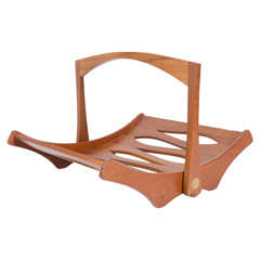 Staved Teak Magazine Rack by Jens Quistgaard for Dansk