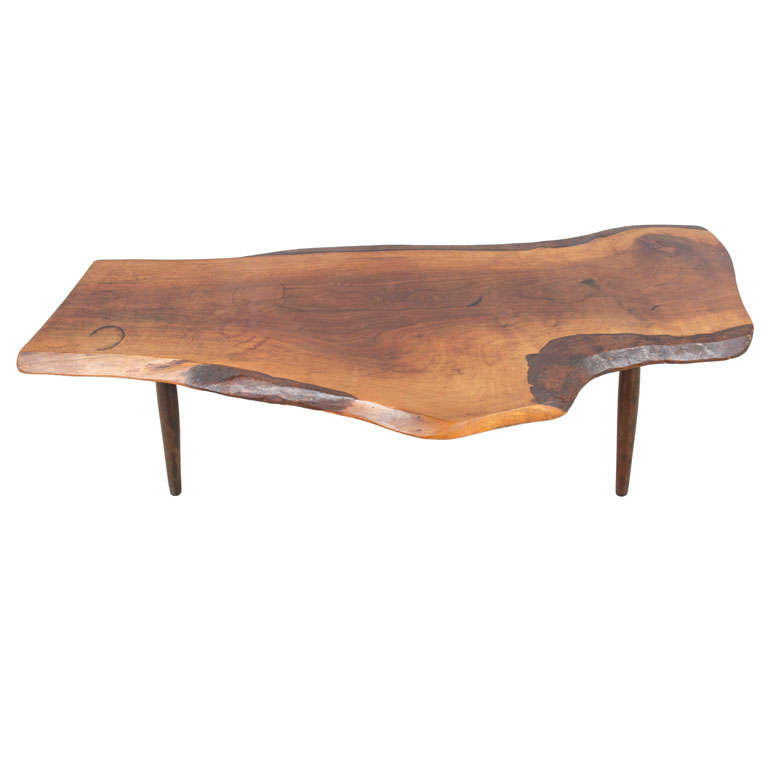 Free-Form Slab Cocktail Table by Roy Sheldon