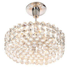 Crystal Drum Chandelier by Bakalowits and Sohne