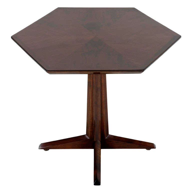 Pair of Hexagonal Pedestal Occasional Tables by Drexel