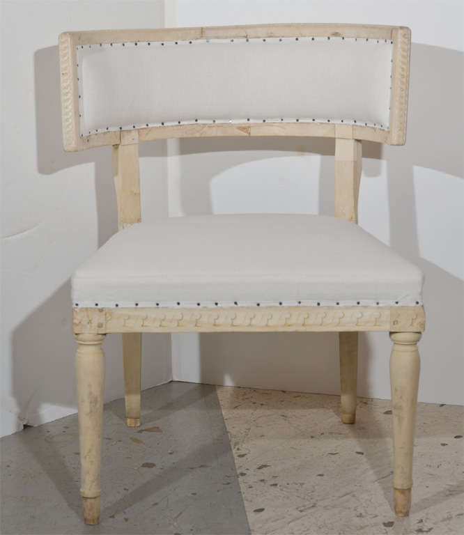 Swedish Gustavian Klismos Chairs For Sale 2