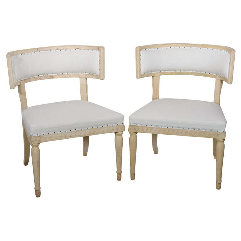 Swedish Gustavian Klismos Chairs For Sale