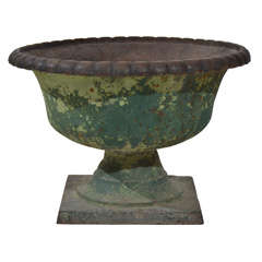 French cast iron urn