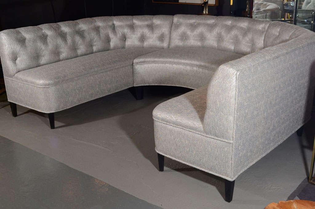 Exceptional Hollywood Tufted Sectional Sofa Banquette In
