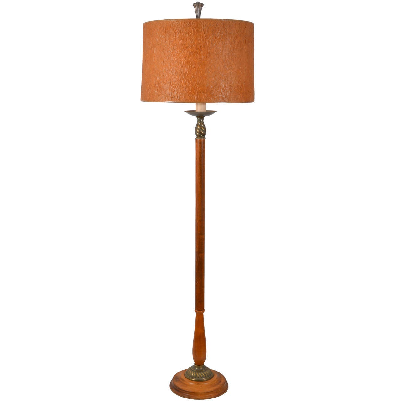 Wooden art deco floor lamp at 1stdibs Wood floor lamp