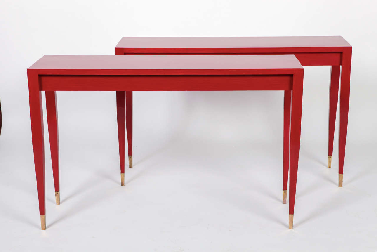 unique pieces of furniture. A Gio Ponti Pair Of Red Laquered Console From The Original Forniture Hotel Parco Unique Pieces Furniture N