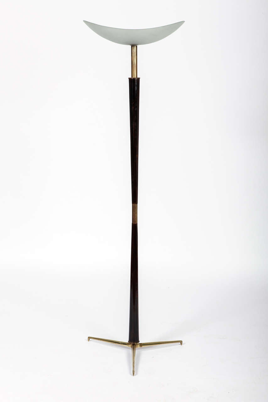 Rare and very elegant stilnovo floor lamp 1950 at 1stdibs for 1950 floor lamp
