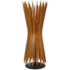 1960s Midmodern Danish Stick Wood Lamp