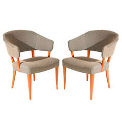 Pair of Carl Malmsten Armchairs