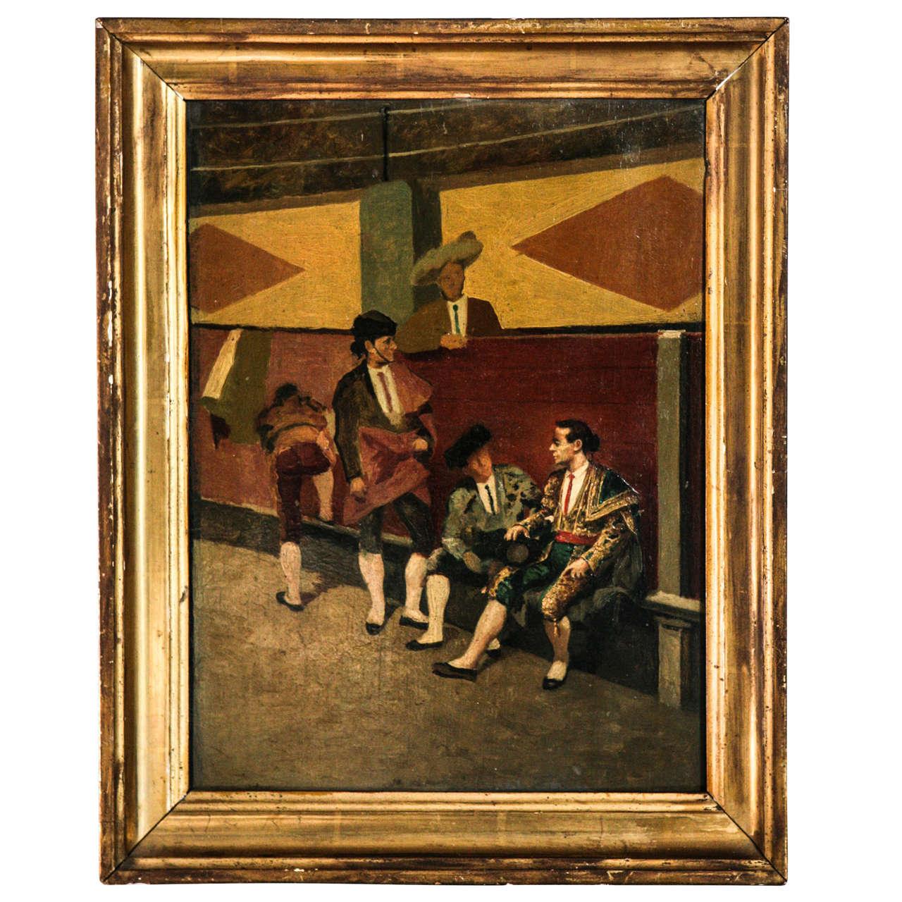 Matadors at Rest, Painting