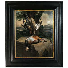 Hunt Trophy of Partridges Painting
