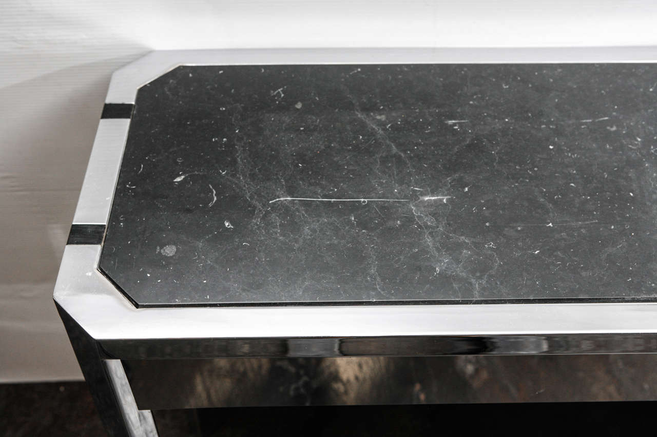 Sleek Paul Laszlo Console In Excellent Condition For Sale In Los Angeles, CA