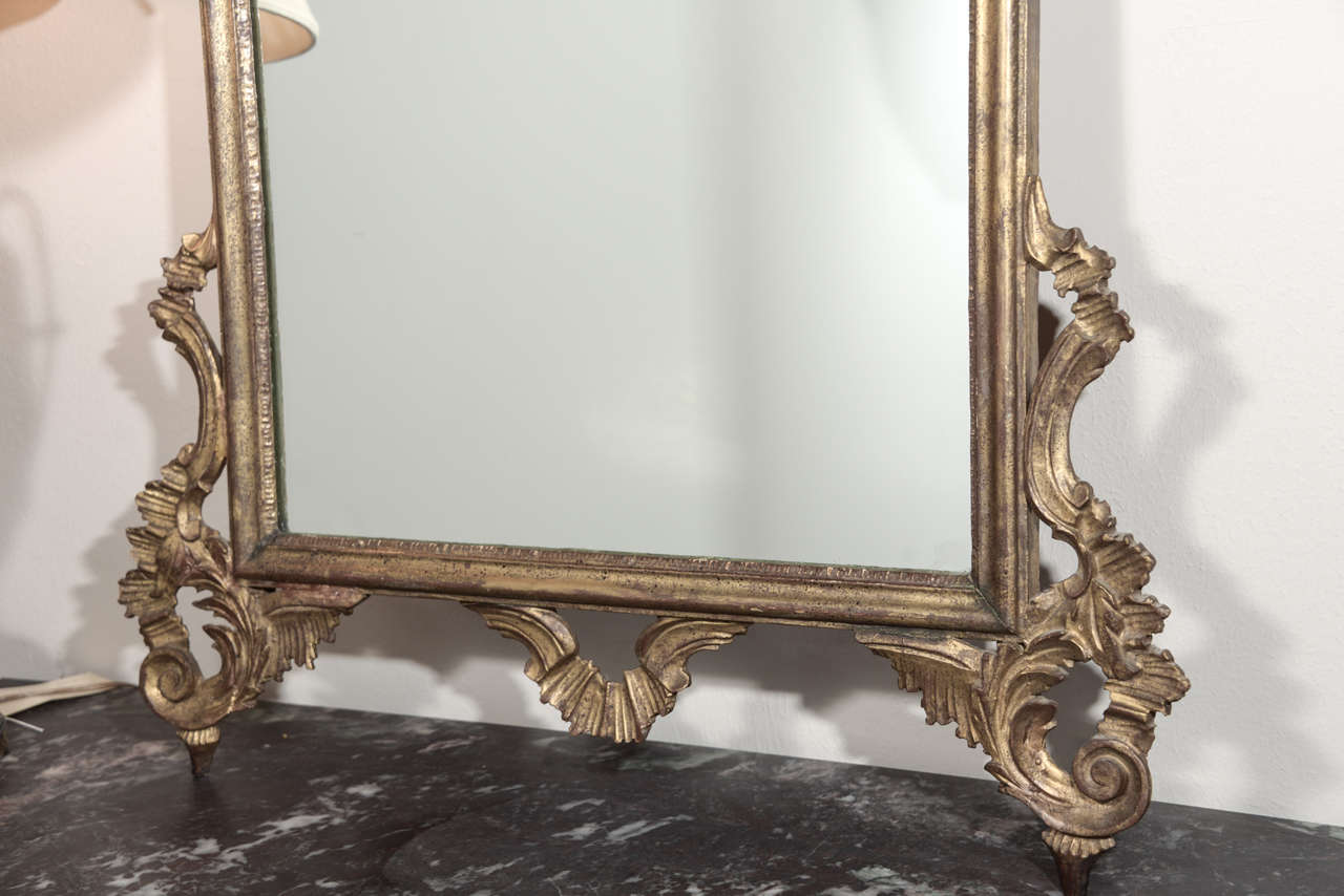 Late 19th c Italian Louis XV gilt wood carved mirrors 9