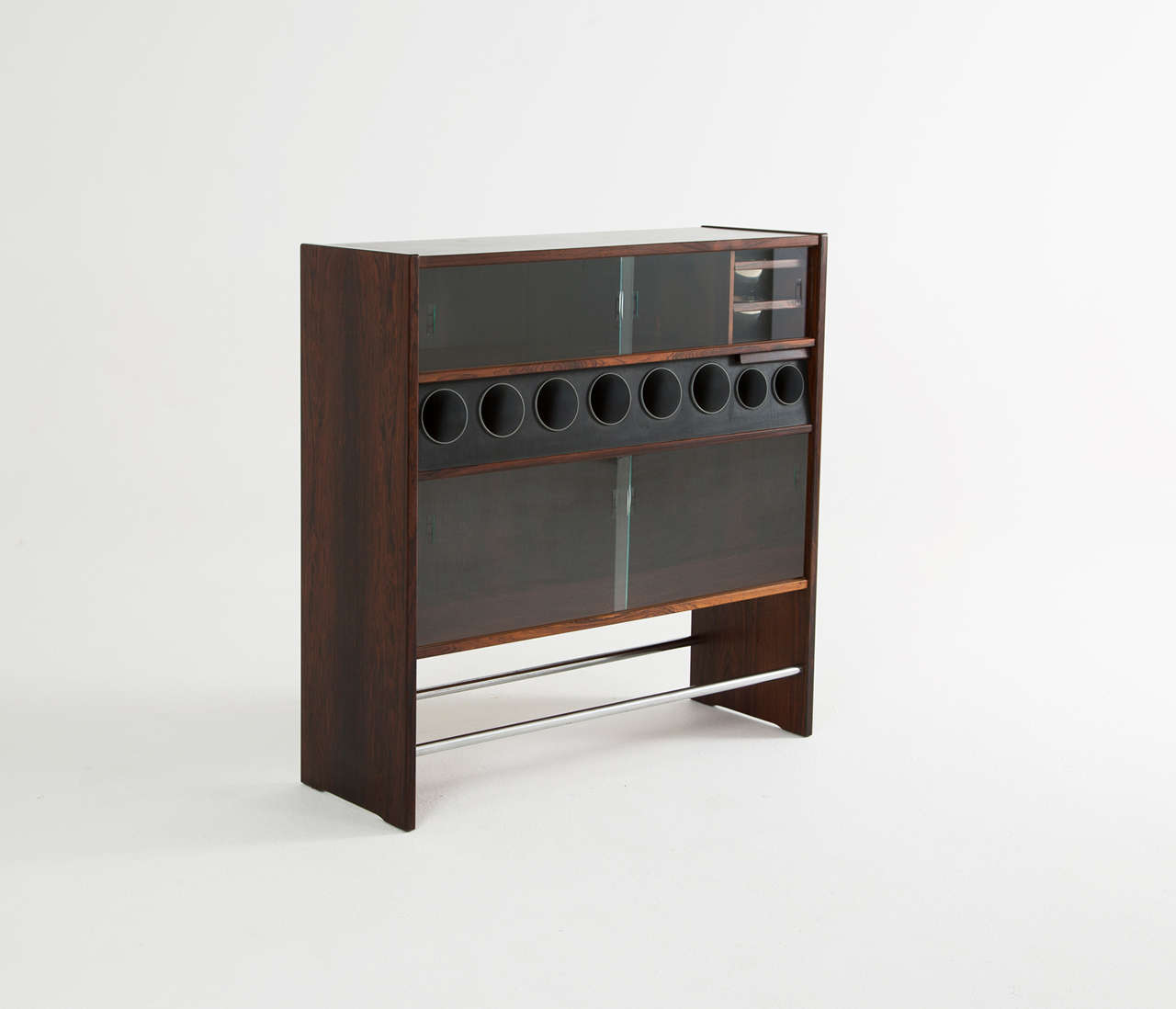 Luxurious danish dry bar in rosewood for sale at 1stdibs for Home dry bar furniture