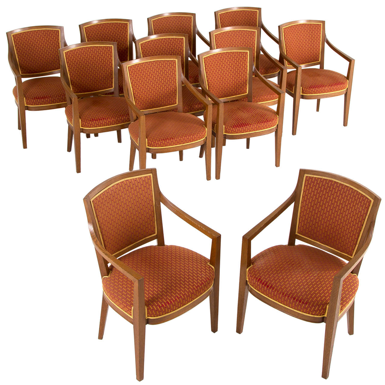 Large Set of Twelve Danish Armchairs