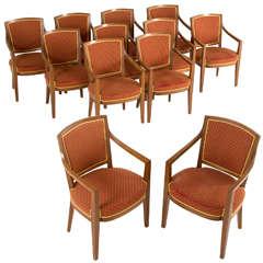 Large Set of Twelve Danish Armchairs