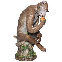 Meissen porcelain, an important life-Size seated monkey figure by J. J. Kandler