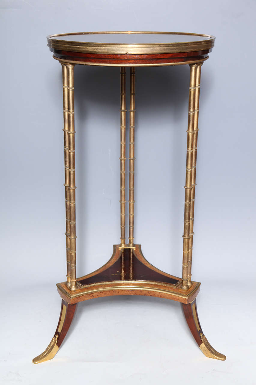 Pair of French Bronze and Lacquer Gueridon Tables 3