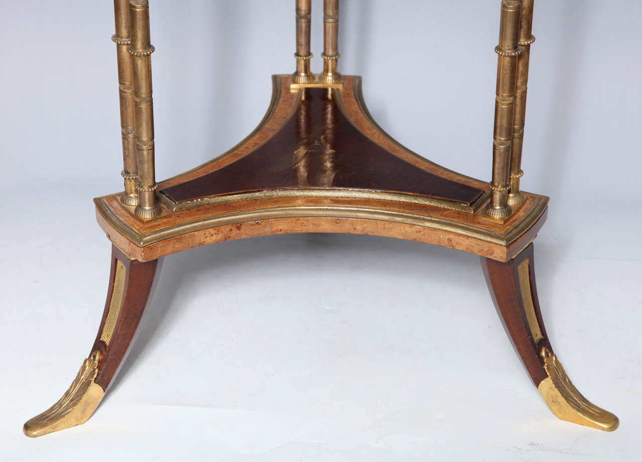 Pair of French Bronze and Lacquer Gueridon Tables 4