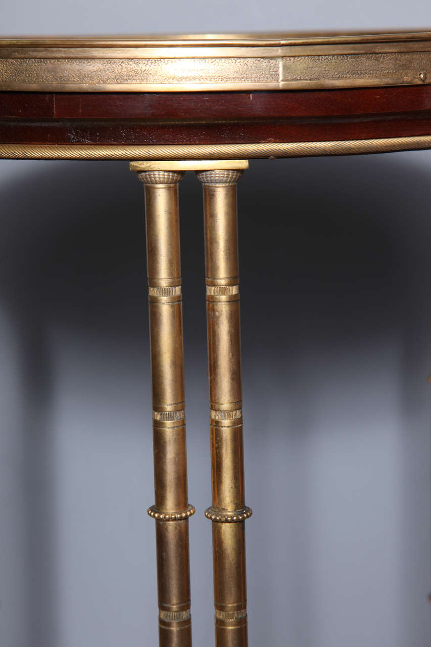 Pair of French Bronze and Lacquer Gueridon Tables 6