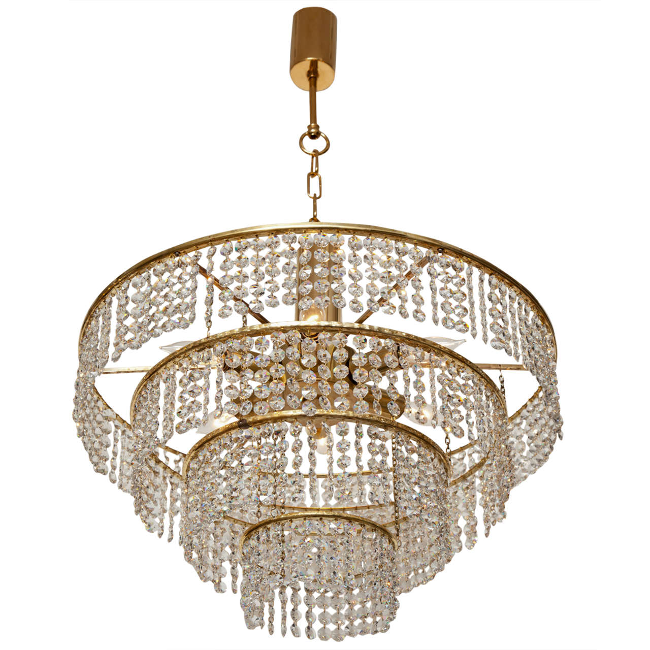 Four Tier German Crystal Chandelier For Sale At 1stdibs